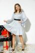 Платье,  Ремень Anastasia 523 серебро+ремень