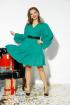 Платье,  Ремень Anastasia 523 изумруд+ремень