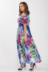 Платье LaKona 955 фуксия+синий