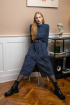 Платье KRASA 204-20 синий-горох