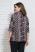 Блуза Белтрикотаж 4304 серый+клетка