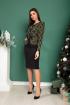 Платье SandyNa 13887 оливково-черный
