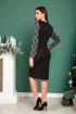 Платье SandyNa 13887 серо-черный