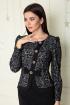 Платье SandyNa 13888 серо-черный