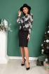 Платье SandyNa 13890 серо-черный