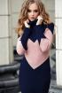 Платье Diva 1196-1 синий/розовый
