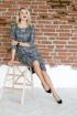 Платье Леди скок 186 серый