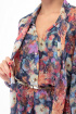 Платье Anelli 675 синий+цветы