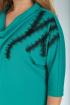 Платье Viola Style 0955 бирюза