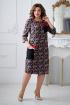 Платье Rumoda 2015 серо-красный