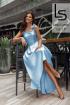 Топ,  Юбка Lady Lusso 04-19 голубой