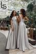Платье Lady Lusso 11-19 серый