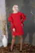 Платье Стильная леди М-185 красный