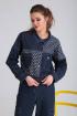 Брюки,  Жакет Viola Style 20551 синий