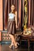Платье Lejole 1405 коричневый