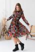 Платье Claire 2207 красный,мультиколор