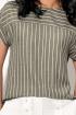 Блуза,  Кюлоты AYZE 1646 оливковый/молочный