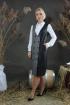 Сарафан Стильная леди М-313 серый/черный