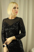 Платье Стильная леди М-267 черный