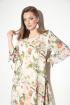 Платье Michel chic 2049 бежево-зеленый