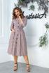 Платье Anastasia 527 серо-бордовый