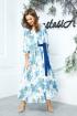 Платье Anastasia 542 белый-синий