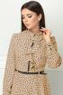 Платье Lenata 11151 песочный-в-горох