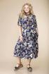 Платье Romanovich Style 1-1657 синий/цветы