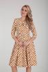 Платье Moda Versal П2275 зиг_заг_горчица