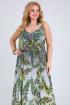 Платье Vasalale 690 серо-зеленый