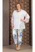 Блуза,  Брюки Aira Style 606 белый