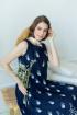 Платье Claire 2382 синий-белый
