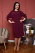 Платье Дорофея 583 фиолетово-баклажанный