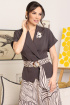 Жакет,  Юбка Мода Юрс 2641 баклажан-бежевый