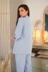 Брюки,  Жакет LadisLine 1350 голубой