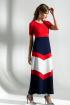 Платье Diva 1284 синий-красн-бел