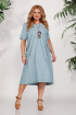 Платье БагираАнТа 687 голубой