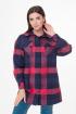 Рубашка Anelli 971 клетка_красно-синий