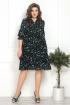 Платье Solomeya Lux 800 черный-бирюза