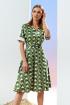 Платье Prestige 4110 бело-зеленый
