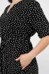 Платье La rouge 5318 черный-набивной