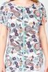 Блуза La rouge 6106 мята-(цветы)