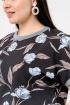 Блуза La rouge 6141 черный-(голубой)