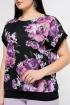 Блуза La rouge 6153 черный-(цветы)