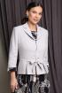 Жакет,  Платье Мода Юрс 2513-1 серый_цепи