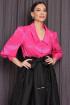 Блуза,  Юбка Мода Юрс 2668 черный-фуксия