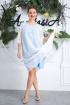 Платье Anastasia 588 молочно-голубой
