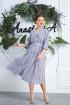 Платье Anastasia 598 т.синий-белый