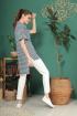Блуза TAiER 961 молочно-синий