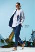 Куртка Rami 1060 сине-белая